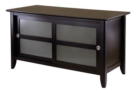 Tv Stand Glass Doors Sliding Frosted Glass Door Tv Stand In Tv Stands