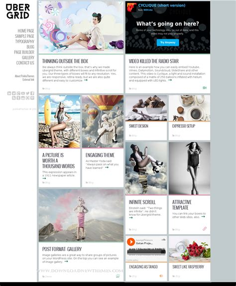grid layout wordpress theme free ubergrid responsive grid wordpress theme download new