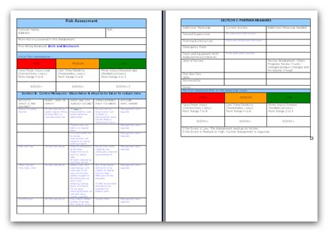 risk assessment for manual handling template brick and blockwork risk assessment