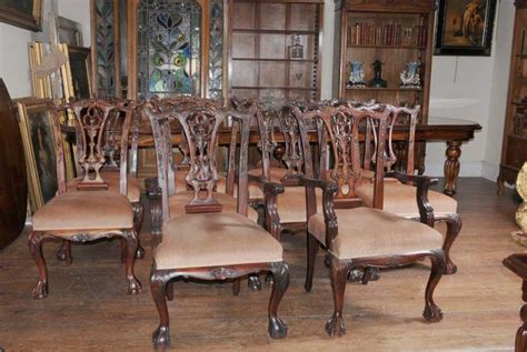chippendale dining room furniture set 10 mahogany chippendale dining chairs ball claw feet