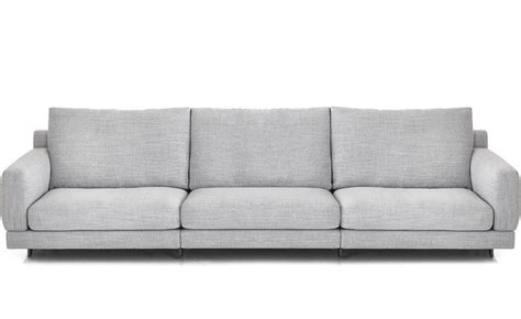 sofa depth elle 3 seat standard depth sofa hivemodern com