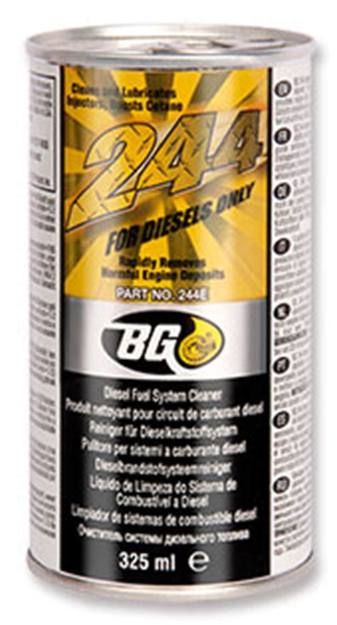 Bg Engine Performance Concentrate Aditif Oli Motor Up To 1500cc Usa bg 244 fuel system cleaner designed for diesel bg