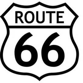 route 66 logo b w stickers buy posters online with 1art1