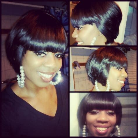 quick weave bob hairstyles pictures quick weave bob cute styles bobz lyfe pinterest