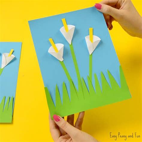 Construction Paper Crafts For Kindergarten - calla paper craft flower craft ideas easy peasy
