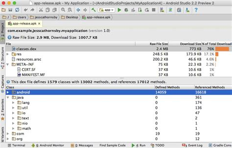 apk analyzer what s new in android studio 2 2