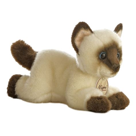 realistic stuffed realistic stuffed siamese cat 8 inch plush cat by