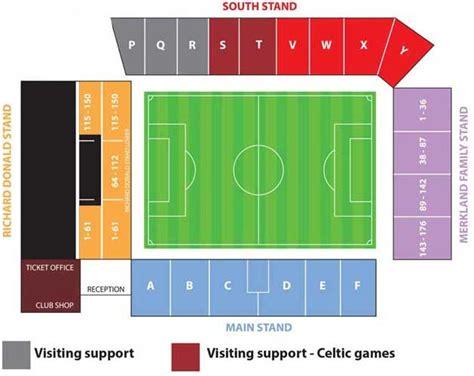 stadium plan pittodrie stadium guide aberdeen f c football tripper