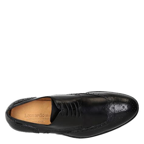 Shoes Handmade - s black leather wingtips brogues shoes handmade