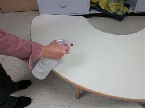 Cleaning Table by Disinfect Child Care Surfaces With A And Water Solution Extension