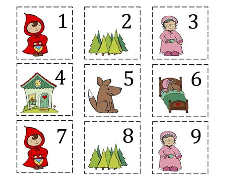 printable version of little red riding hood little red riding hood printable preschool printables