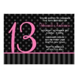 13th birthday invitations announcements zazzle au