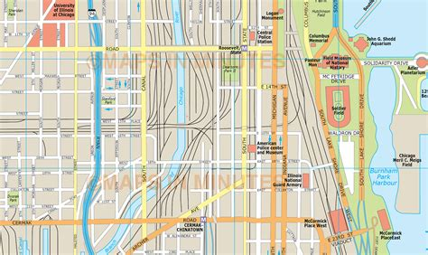 chicago city map chicago city map