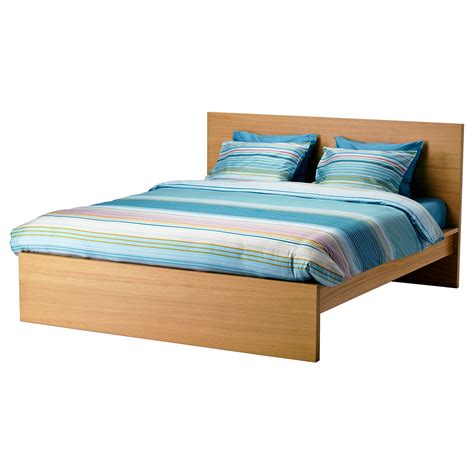 Malm Bed Frame High Oak Veneer Lur 246 Y Standard Double Ikea Ikea Bed