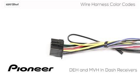 understanding pioneer wire harness color codes  deh  mvh  dash receivers youtube