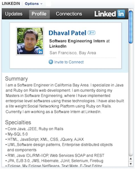 Software Engineer Mba Linkedin by Building Linkedin In An Opensocial Container Linkedin
