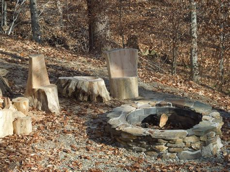 Rustic Firepit Rustic Pits Pits And On