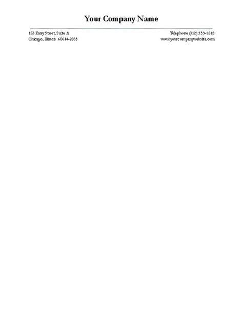 Free Firm Letterhead Free Business Letterhead Templates