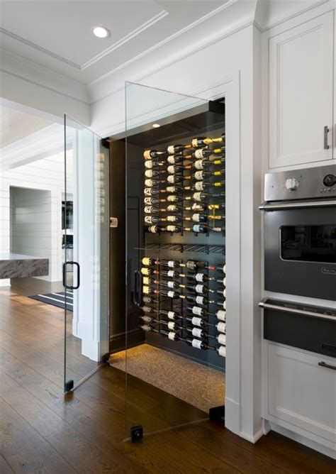 Birch Kitchen Cabinet Doors frameless wine room glass doors