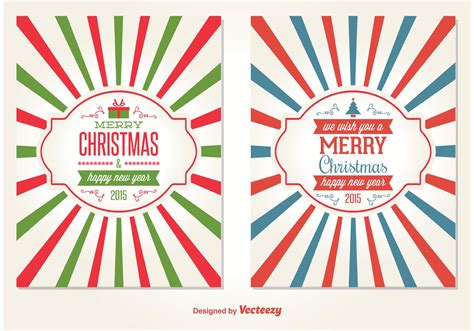 retro style christmas card vectors   vectors clipart graphics vector art