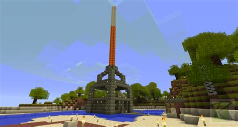 How To Make A Beacon Light Up by Lava Pillar Light Beacon Minecraft Screenshots A Visual