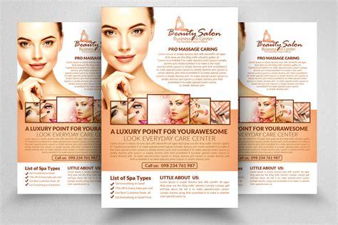 Beauty Salon Flyer Template By Designhub Thehungryjpeg Com Hair Salon Newspaper Ad Templates