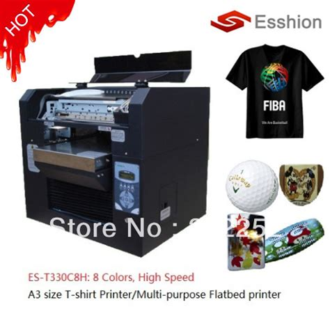 Printer Dtg Epson A3 multi purpose 8 colors a3 size dtg t shirt printer digital flatbed printer epson direct to