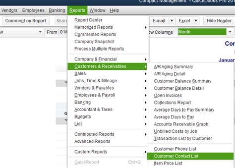 Quickbooks Customer Contact List Report by Data Upload Quickbooks Desktop Field Office Manager Help