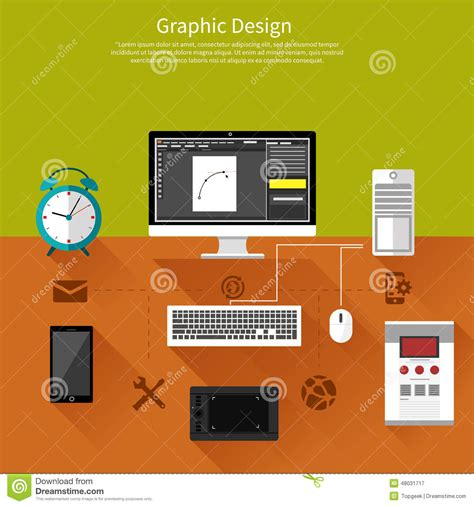 software of graphic design graphic design and designer tools concept stock vector