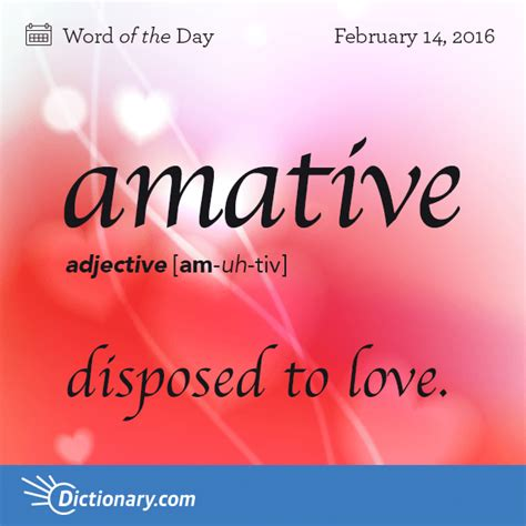 origin of the word love amative word of the day dictionary com