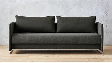 tandom grey sleeper sofa cb2