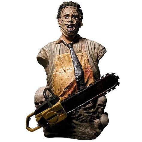 non aprite quella porta reale leatherface mini bust neca horror chainsaw