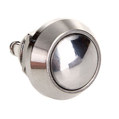 Saklar Push On Nikel 12 Mm 3a push button reset button switch 12 mm nickel plated copper bell push fk ebay