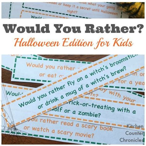 Turkey Crafts For Kids - would you rather halloween edition for kids