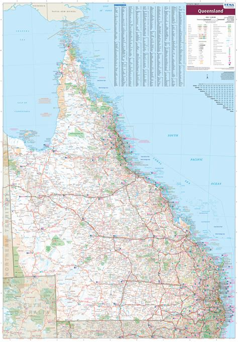 printable qld road map queensland hema supermap laminated buy large map of qld