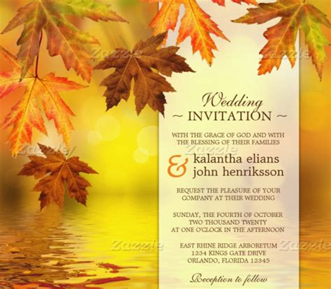 Fall Wedding Invitation Template 15 Psd Formats Free Fall Templates