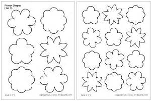 Free Flower Templates To Cut Out by Flower Shapes Printable Templates Coloring Pages