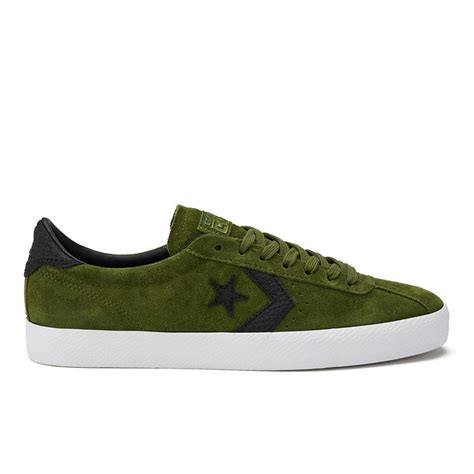 converse cons breakpoint premium suede trainers imperial green white black clothing thehut
