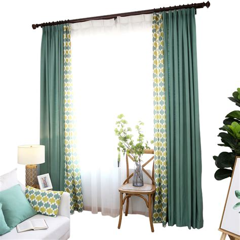 funky drapes emerald and yellow patterned funky apartment curtains