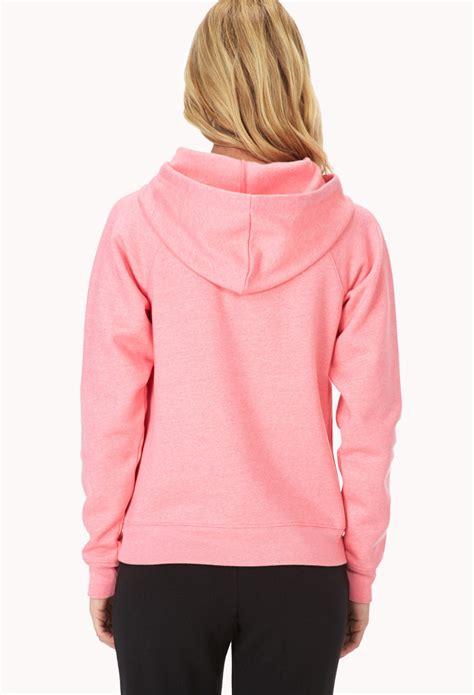 Jaket Hoodie 21 Pink lyst forever 21 fleece lined sleep hoodie in pink