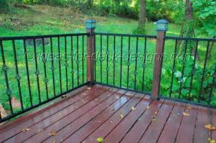 Design For Metal Deck Railings Ideas Metal Deck Railing Wood Aluminum Galvanized Iron And Stainless Rail