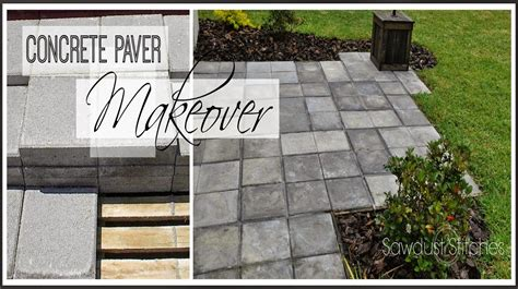 staining patio pavers paver patio makeover stains stitches and 2