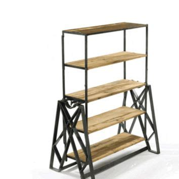 folding wood accent table from dot bo my wishlist reclaimed wood convertible shelf table from dot bo
