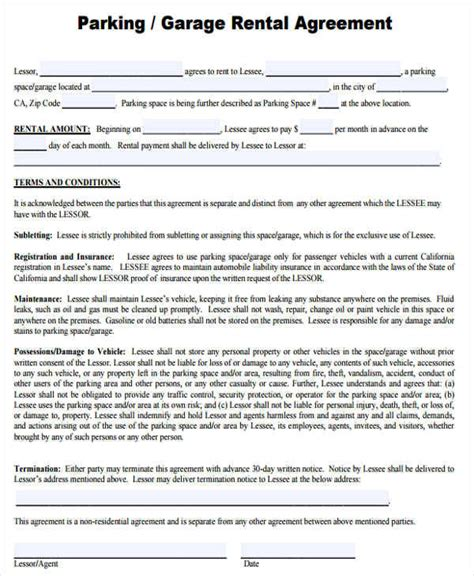 28 rental space agreement template rental agreement