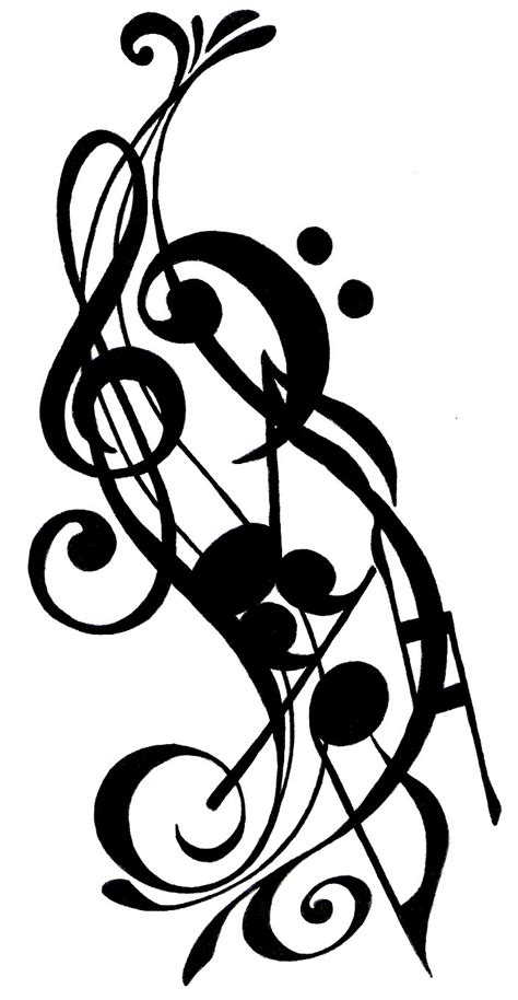 music note tribal tattoos musical design by matoony310 on deviantart