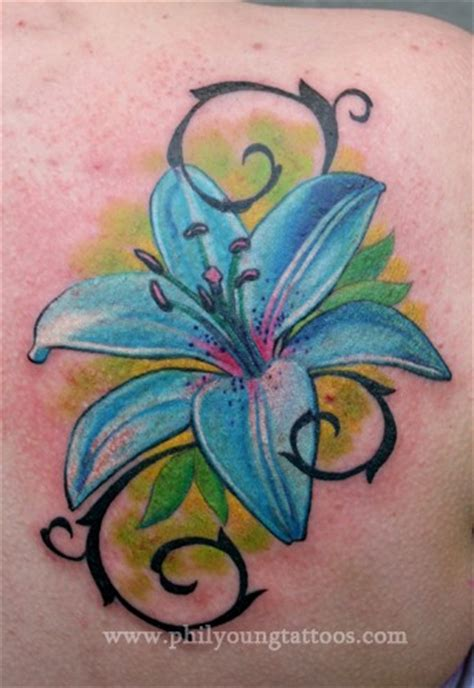 tattoo flower water funny pictures gallery lily flowers tattoos lily flower