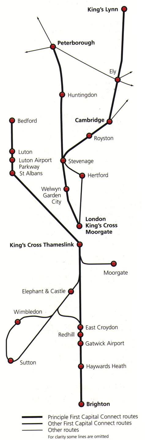 thameslink train map thameslink train rail maps