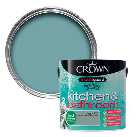 crown kitchen bathroom dragonfly mid sheen emulsion