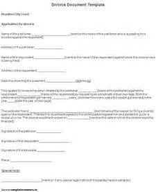 divorce papers template free printable divorce template form generic