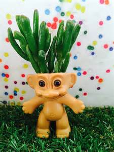 troll doll planter succulent planter cactus by
